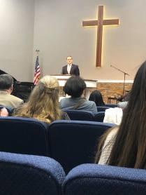 Preaching at Coast Hills Baptist