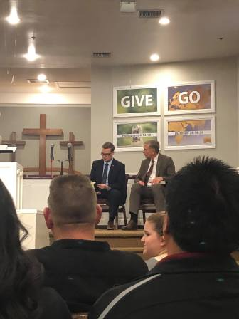 sitting with pastor goddard at faith baptist wildomar 2